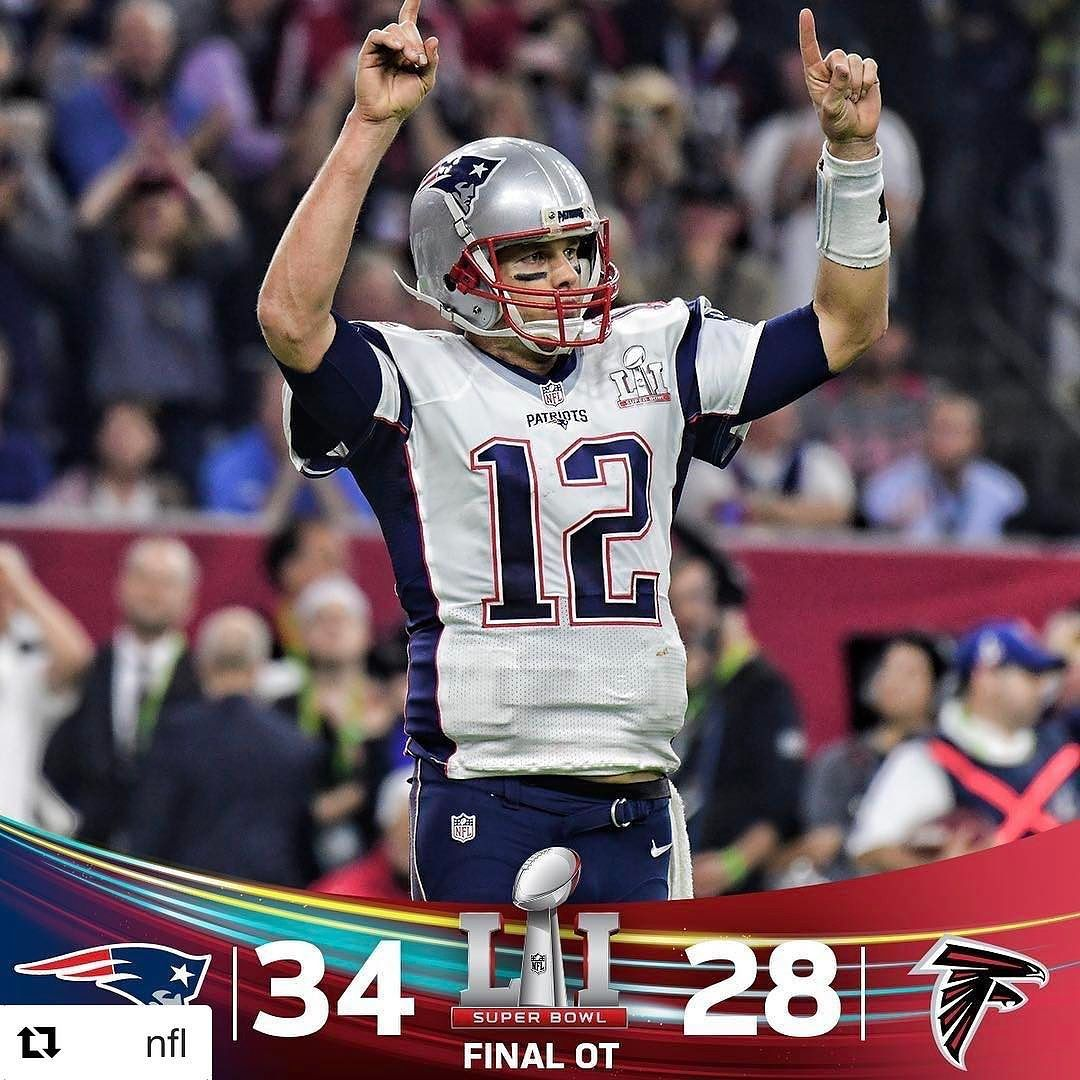 Comeback Complete. Patriots win SB51! Super bowl, Nfl