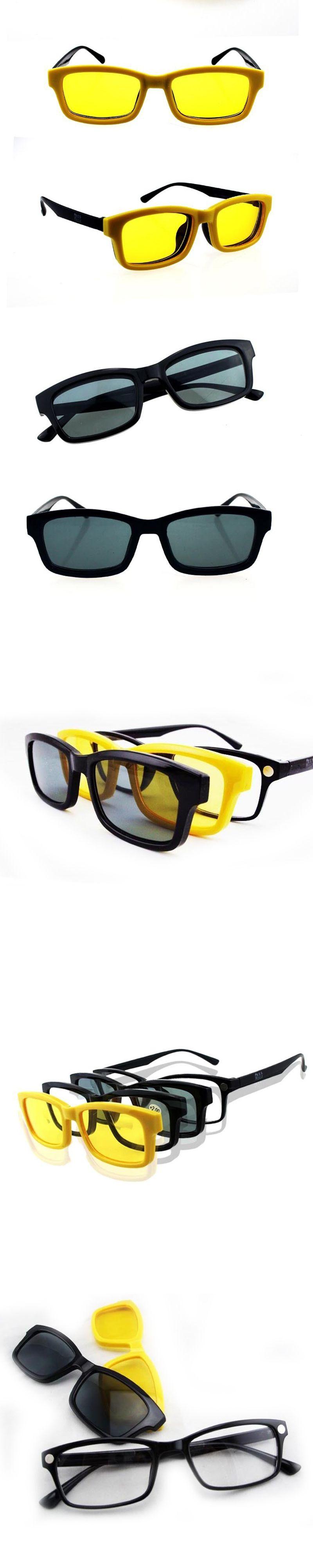 8e7b8c9b4a NEW Women 4 in 1 Magnetic Myopia Reading Glasses frame Men Clip on Sunglasses  Eyewear Free