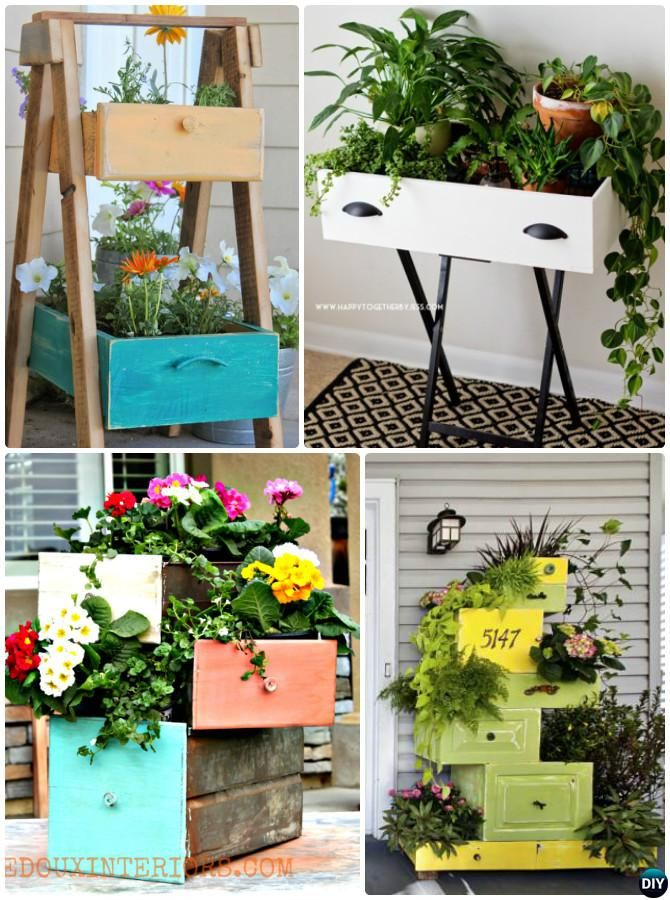 DIY Old Drawer Planter Instructions 20 DIY Upcycled