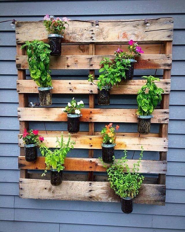 Herb Garden Design, Vertical Pallet Garden
