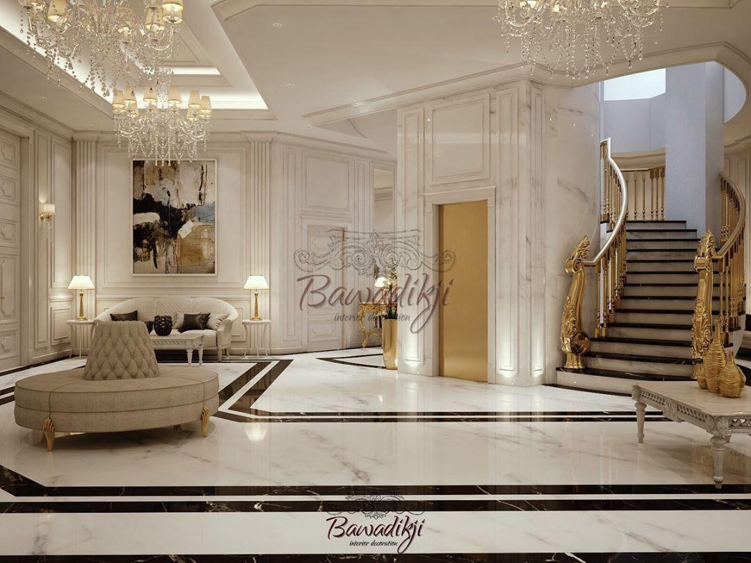 بوادقجي للتصميم الداخلي On Instagram المدخل و الدرج السلم من الفراغات المهمة جدا في البيت تحولت من Kitchen Room Design Room Design House Plans
