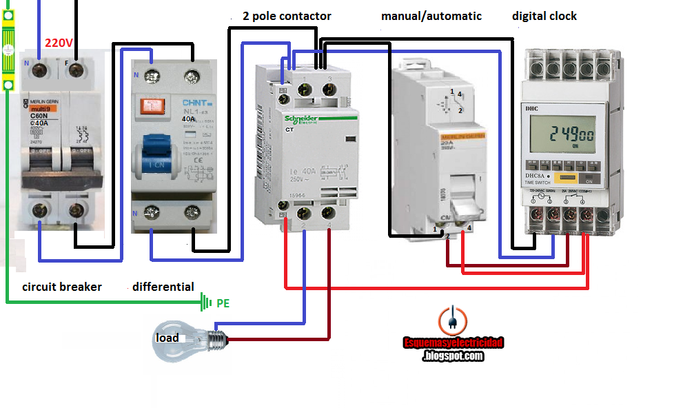 21+ 2 pole contactor wiring diagram ideas