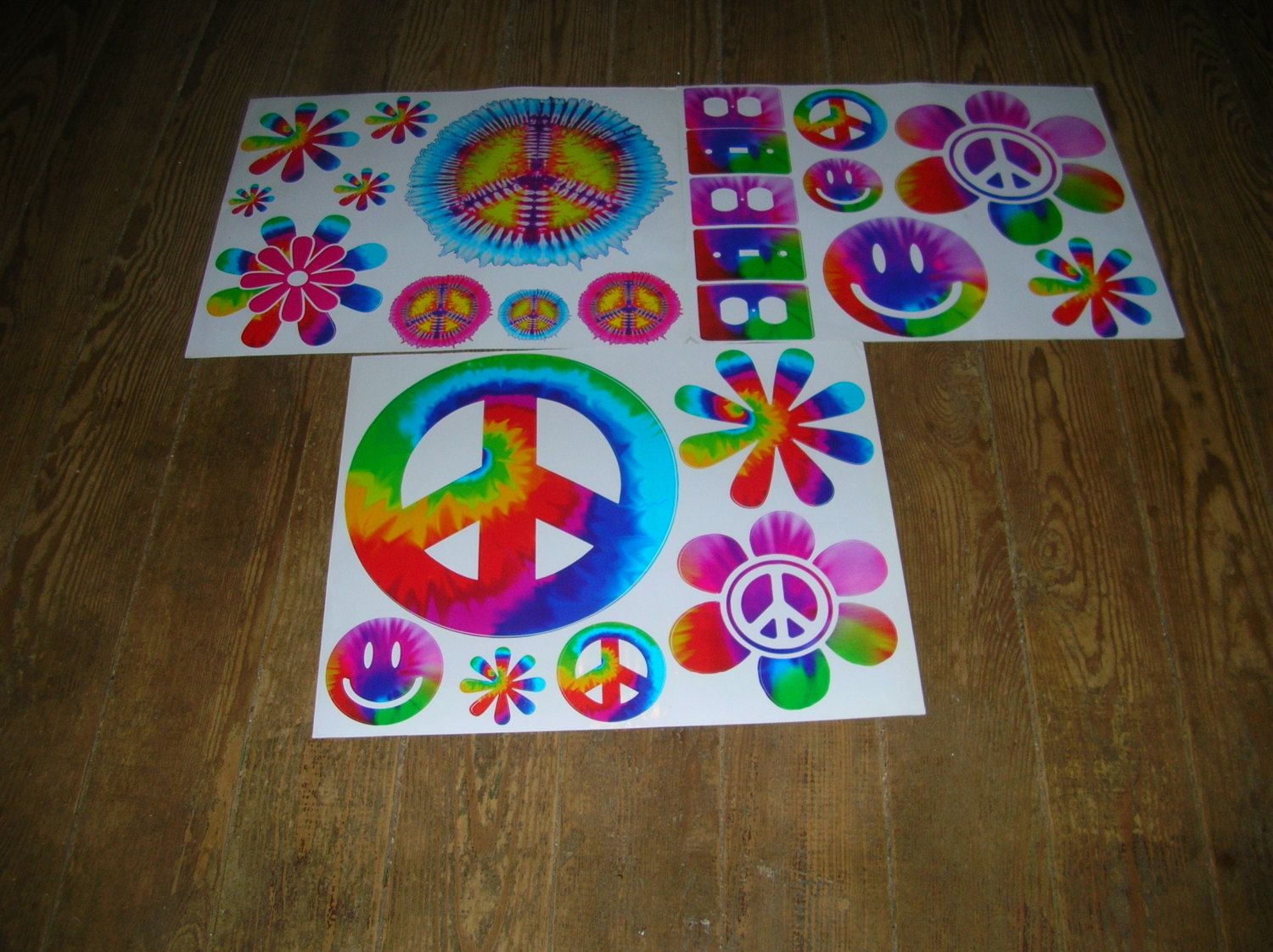 Lot of 3~Room Decor Wall Decals~BRIGHT PEACE SIGNS by ...
