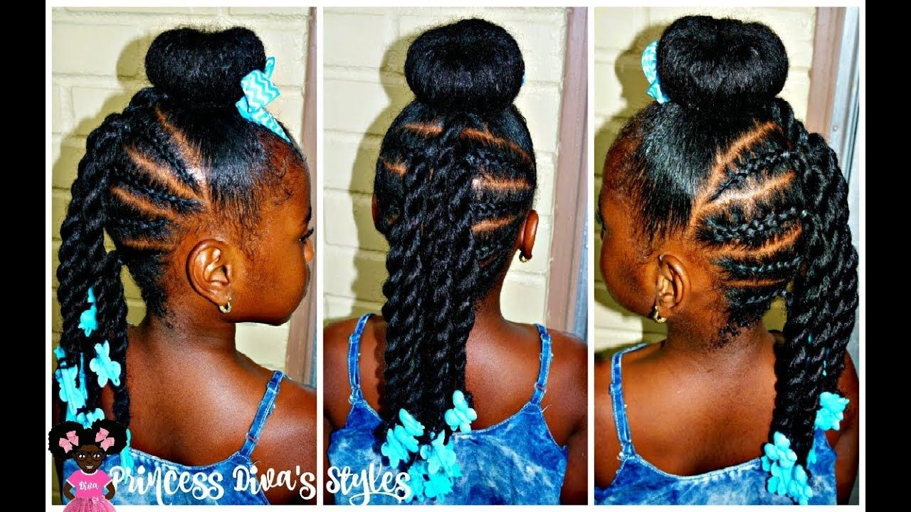 Just another bun hairstyle in black girls hairstyles