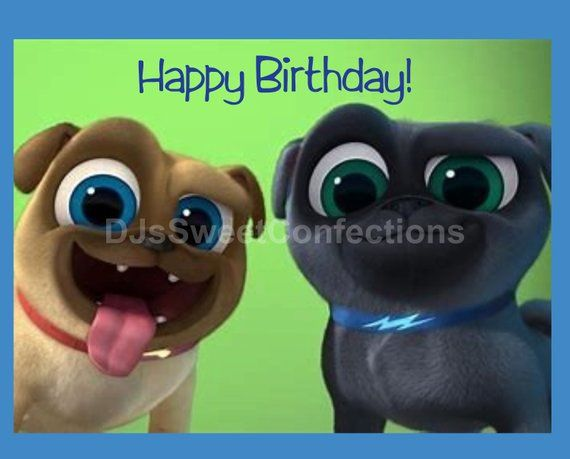 Puppy Dog Pals edible image cake topper is a thin frosting