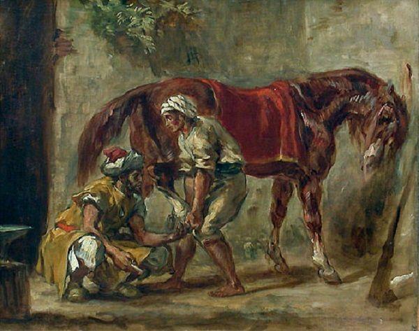 Eugène Delacroix - Le maréchal ferrant, dit aussi Arabes ...