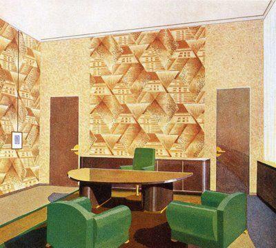 Vintage Commercial Illustrations Of 1930s Art Deco Decor