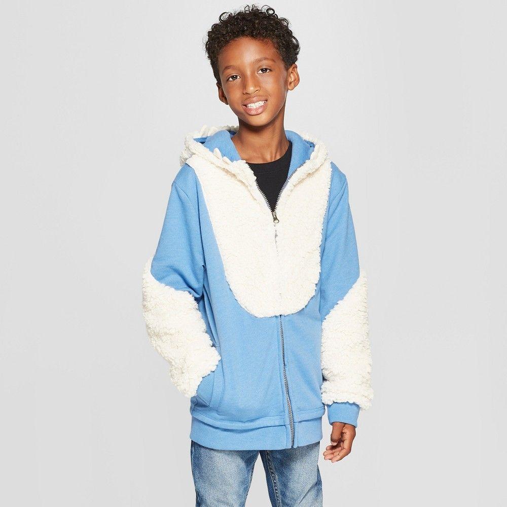 Cat /& Jack Boys Full Sleeve Sweatshirt Blue