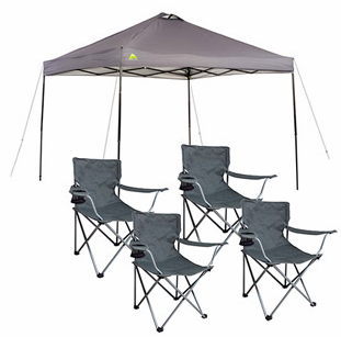 Walmart.com 10 X 10 Straight Leg Canopy with 4 Folding Arm Chairs Only $78 (Regularly $122.49!)  sc 1 st  Pinterest & Walmart.com: 10 X 10 Straight Leg Canopy with 4 Folding Arm Chairs ...