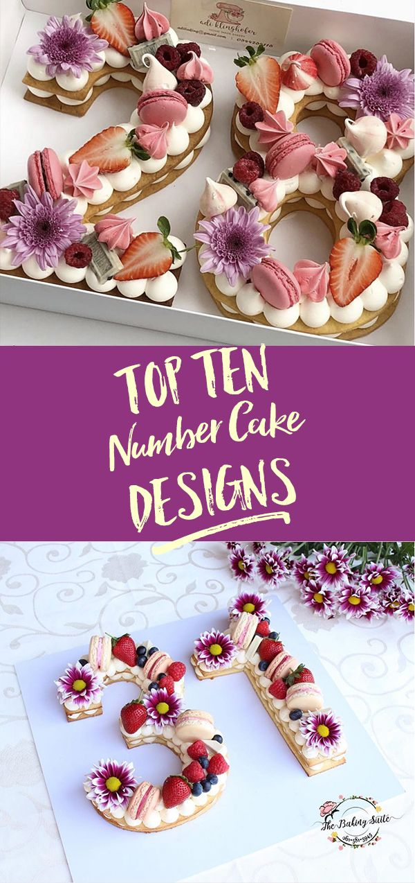 We LOVE number cakes - and here, you'll find our favourite ten designs and a whole lot of inspiration! #numbercakes