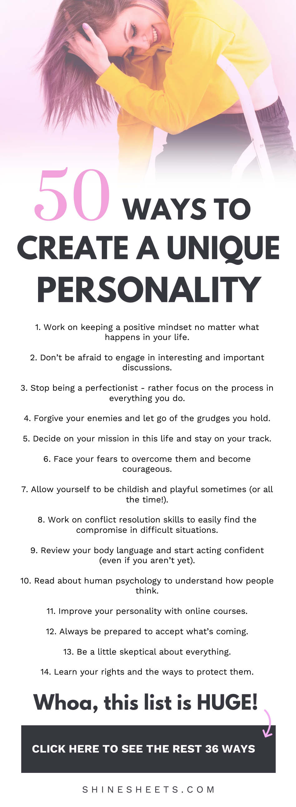 50 Ways To Create a Unique Personality #personalgrowth