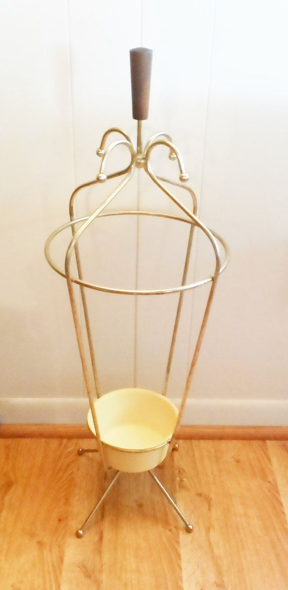 Brass Umbrella Stand 30 Tall Vintage Plate On Etsy