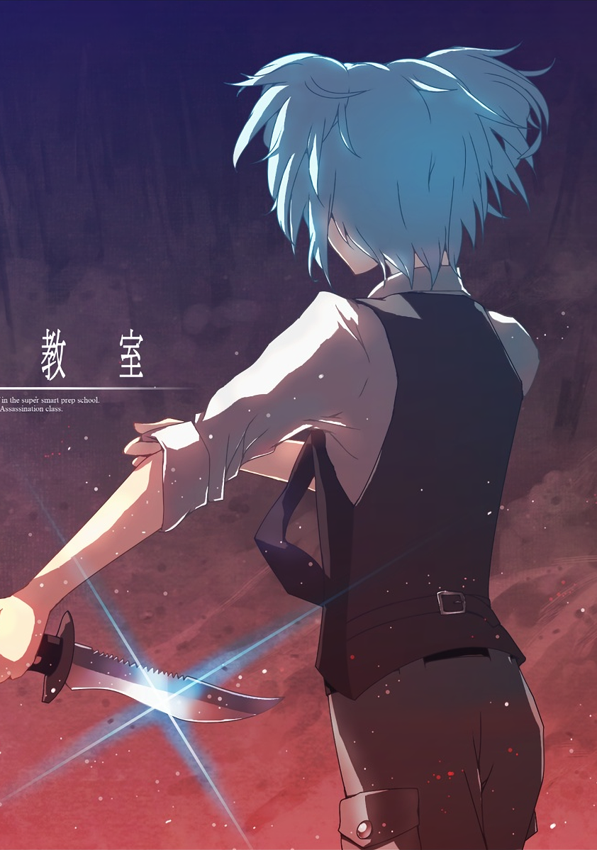 Check The Link To Download Hd Wallpapers Of Assassination Classroom And More Pc Phone Anime Assassination Classroom A In 2020 Nagisa And Karma Anime Fan Art