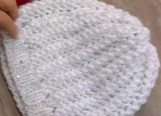 8b502112488f0 Receita de Tricô  Gorro e Gola Angela em trico Mais