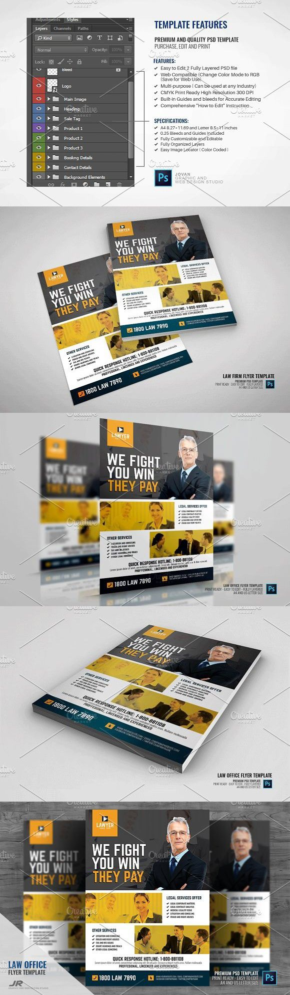 Law Firm and Law Office Flyer | Flyer design templates, Flyer ...