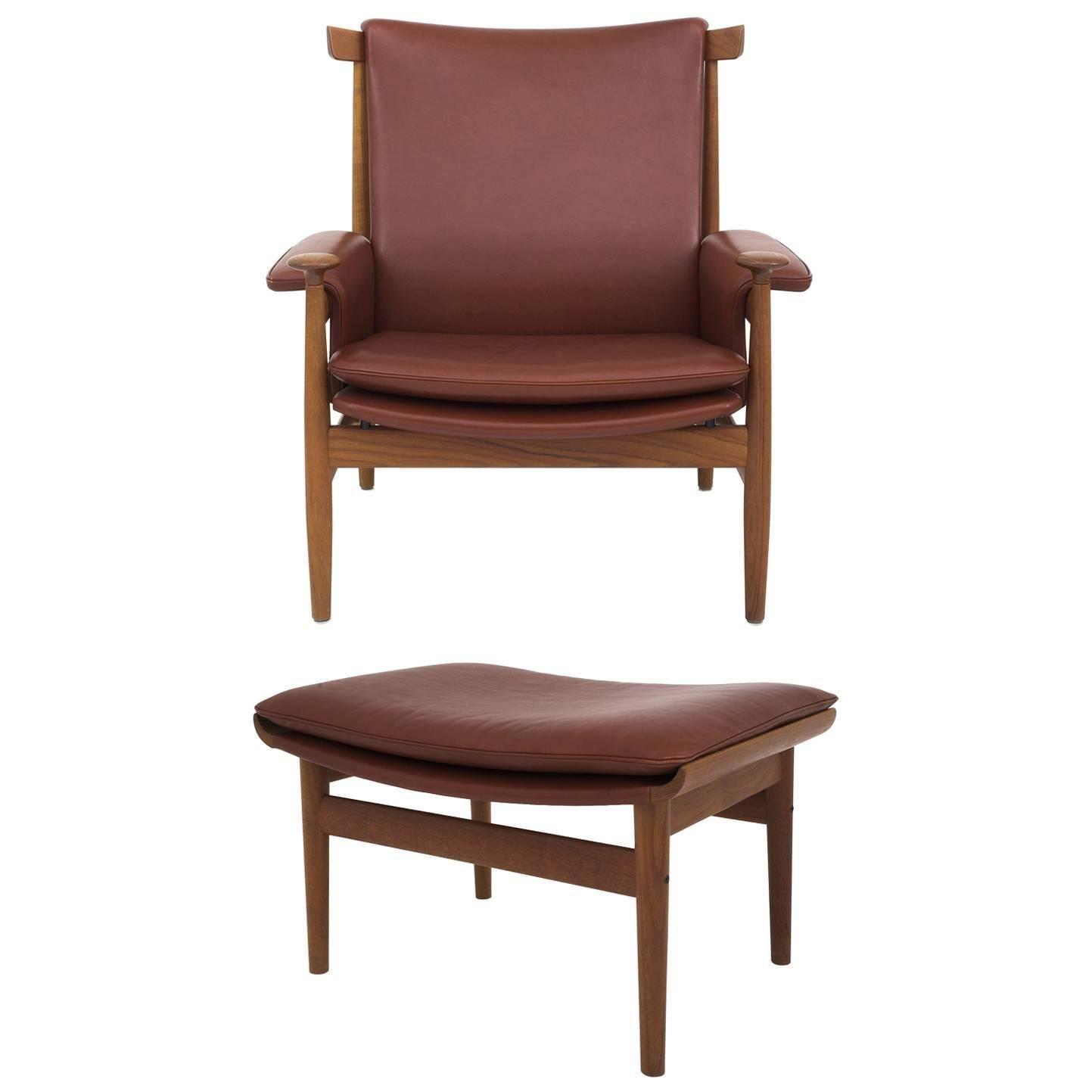 finn juhl bwana chair and stool in teak finn juhl pinterest
