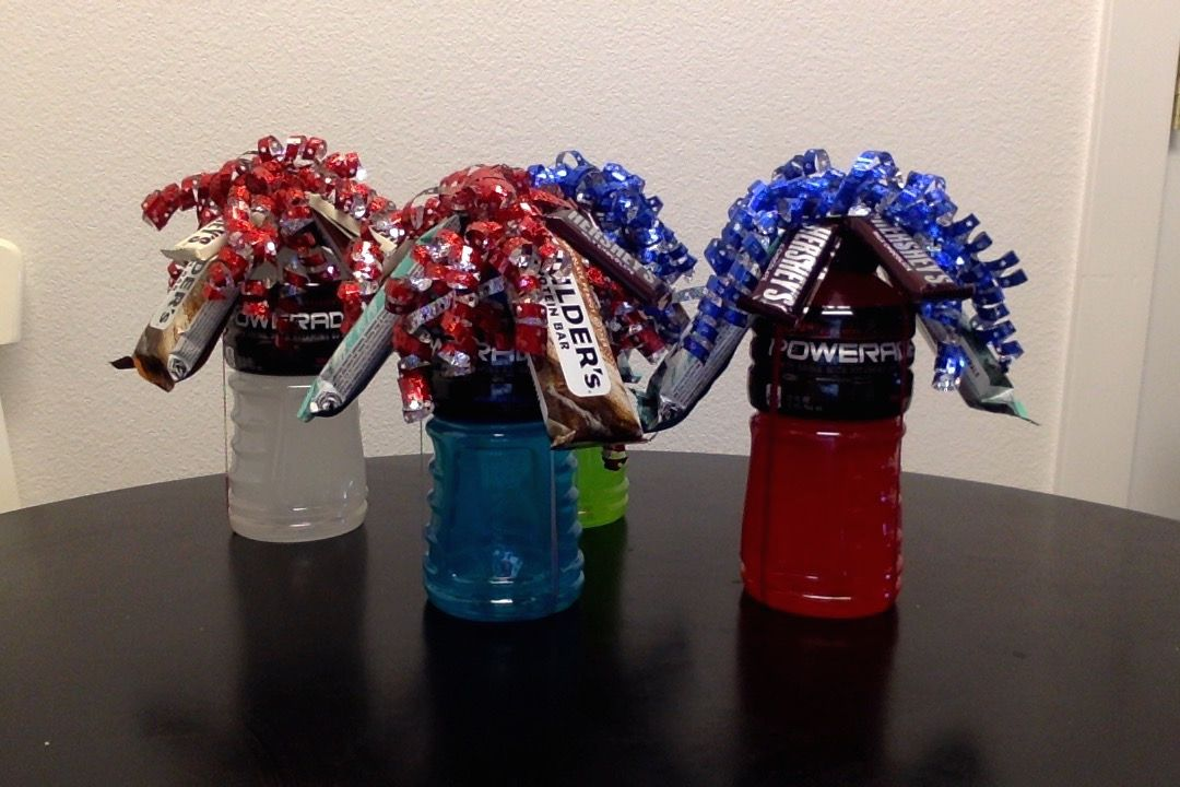 Powerade Protein Bar Bouquet For Football Players During