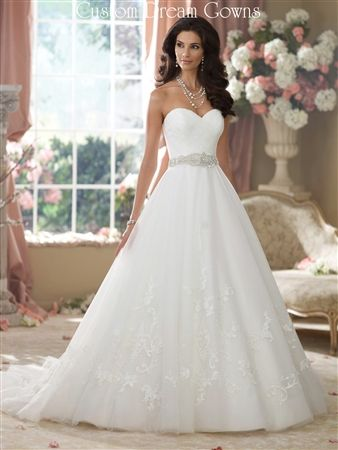 65ba5110c43 Fall 2014 is a Beautiful Lace and Tulle A-Line Ball Gown with a Sweetheart