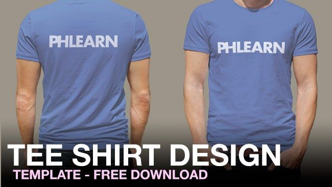 Phlearn TShirt Design Template Plus Free Download  Graphic
