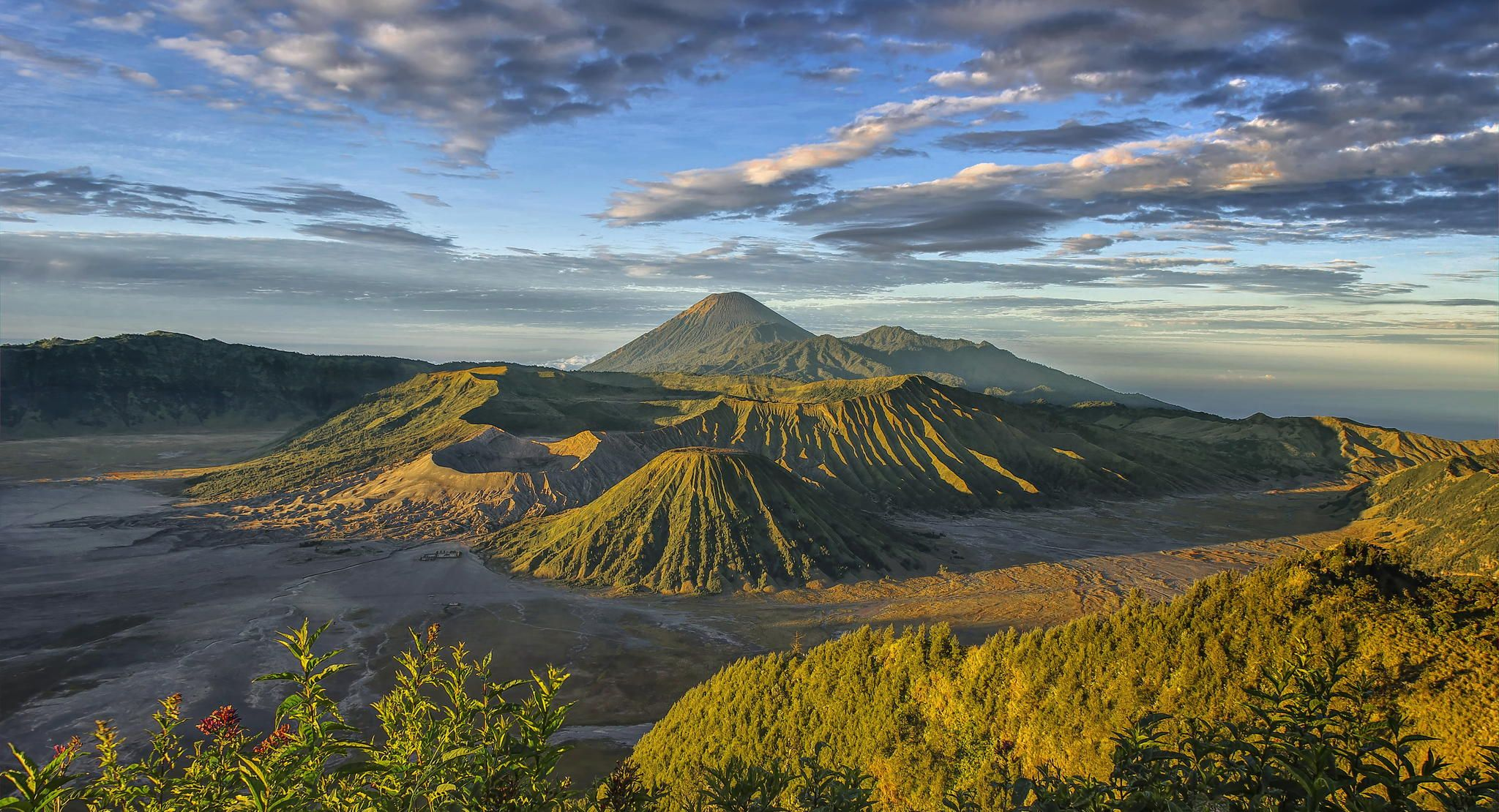 mount bromo has many beautiful panoramic scenery to offer from the famous magnificent sunrise until