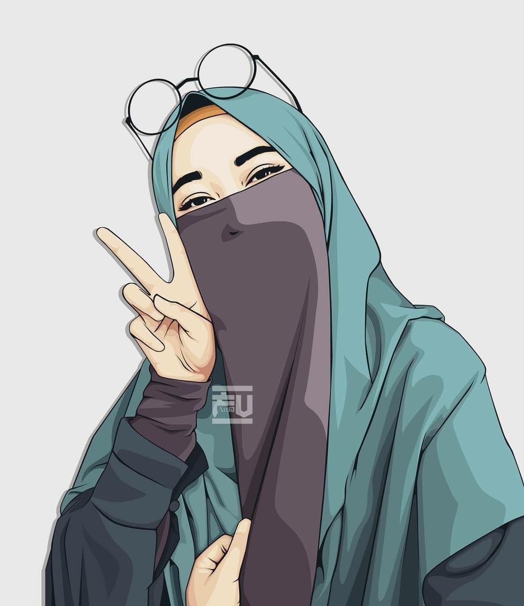 Pin By Husna Moe On Jilbab Muslim Hijab Drawing Anime Muslim Islamic Cartoon