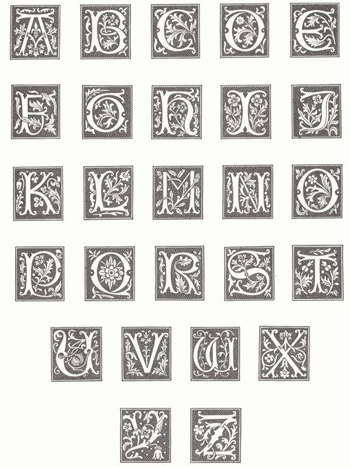 Medieval Alphabets and Decorative Devices | Fonts