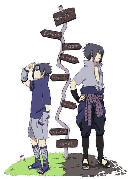 Sasuke Uchiha the sad part is that Lonely at the bottom is both ways.