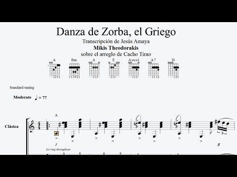 Zorba el Griego - Cacho Tirao - Tablatura para Guitarra Solista ...