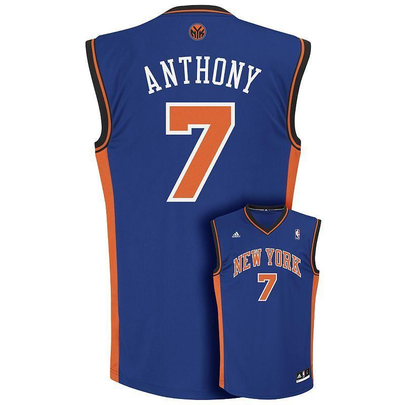57bac873b Men s adidas New York Knicks Carmelo Anthony Jersey