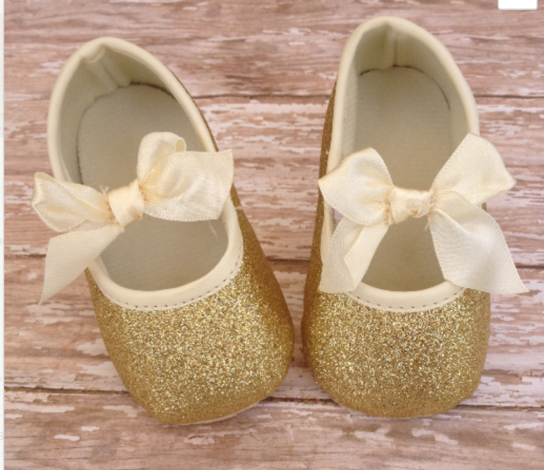Baby Girl Gold Shoes | Gold baby shoes