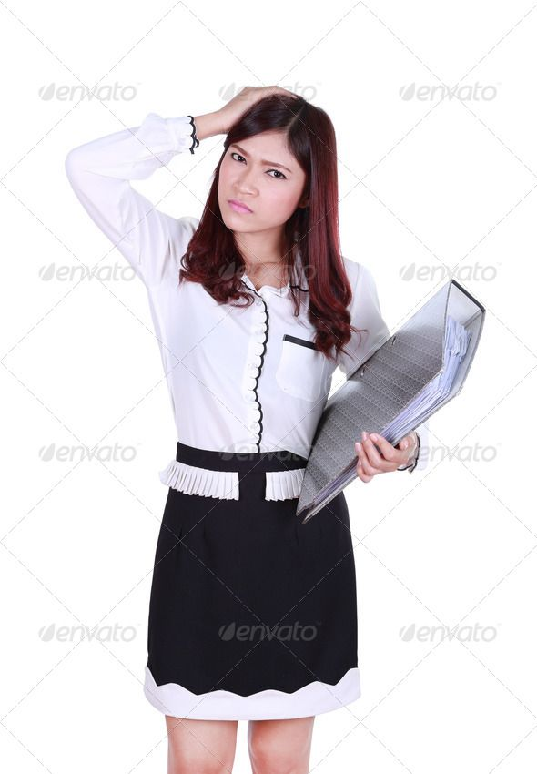 Business Woman With Pain Accountant Asia Asian