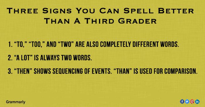 Can you spell better than a third grader?