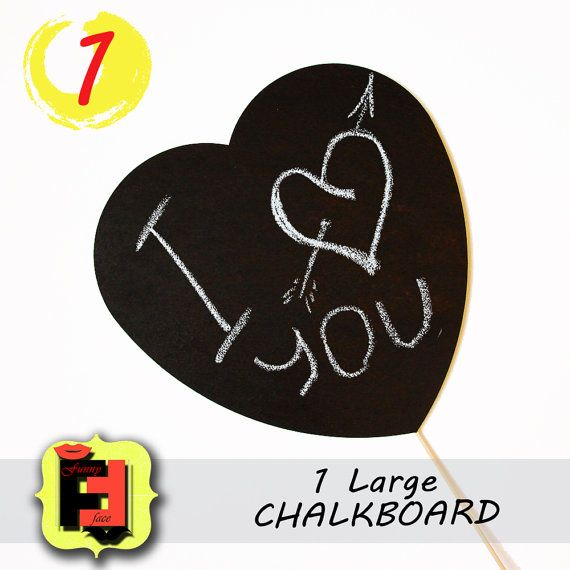 Items Similar To Large Chalkboard On A Stick Sch Bubble Foamboard For Wedding Or Engagement Photo Booth Props Etsy