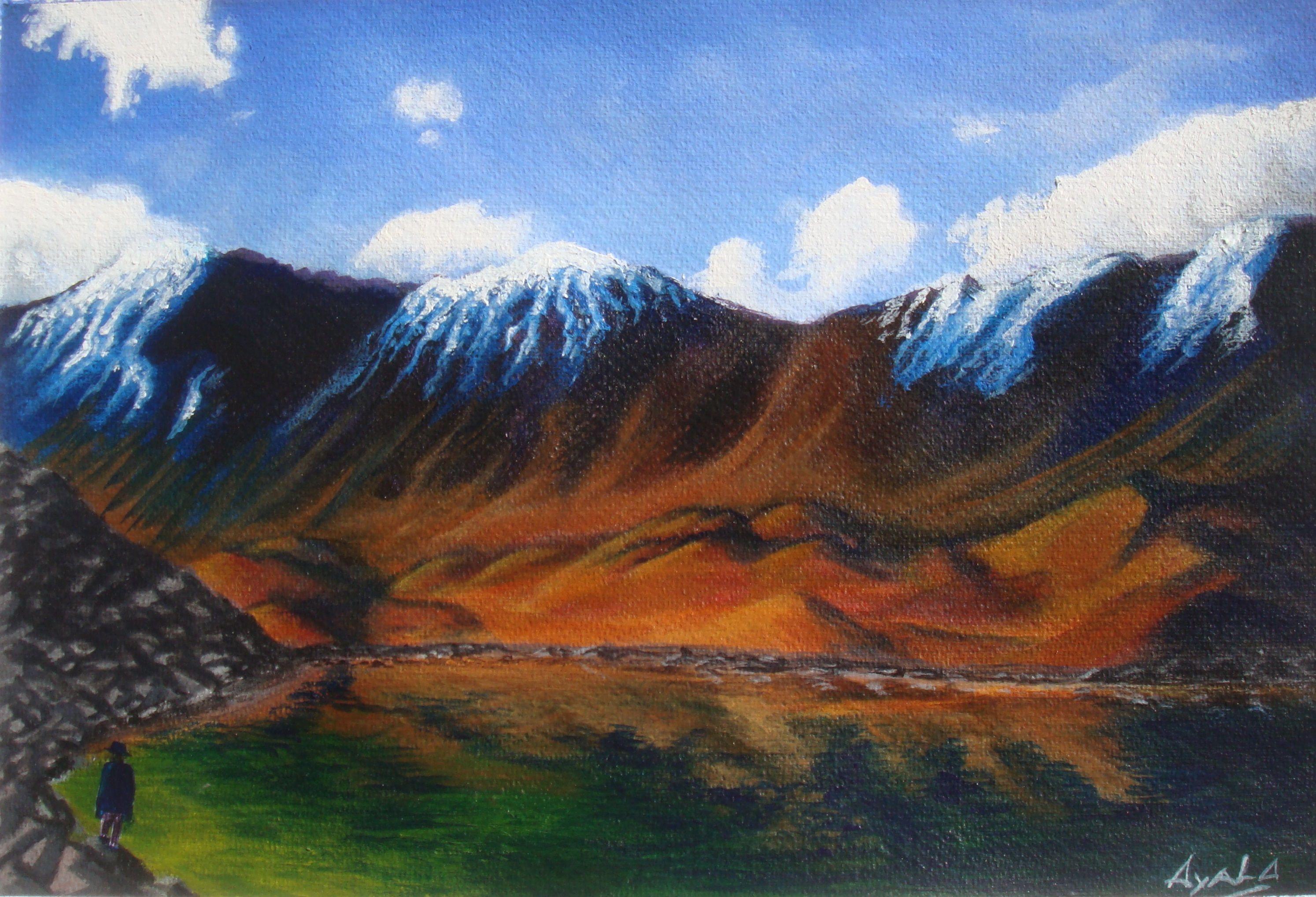 Jonathan García Ayala El Visitante (Vista interna del Nevado de Toluca) 24 x 33.5 cm febrero de 2016 Acrílico sobre papel