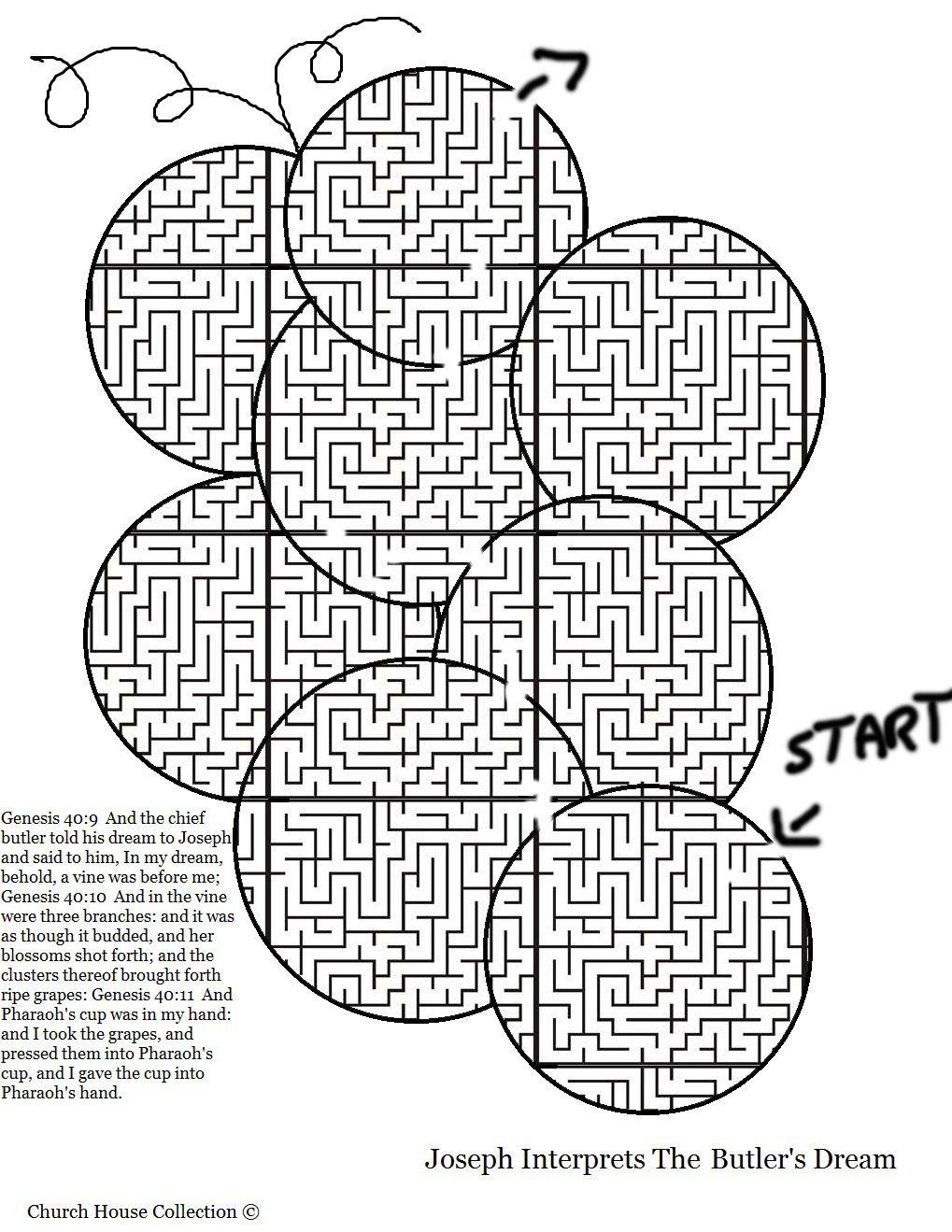 Joseph Interprets The Butler's Dream Maze- Grape Maze