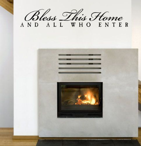 Free Shipping Bless This Home And All Who Enter Vinyl Wall Art - Wall decals entryway