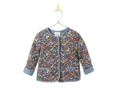 Baby floral quilted jacket at Zara