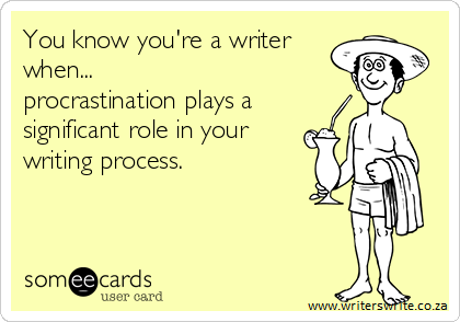 Writing Comic - You know you're a writer when…