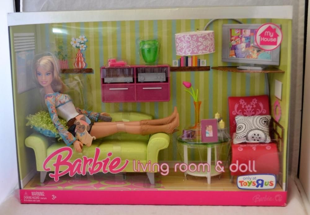 2007 Barbie My House Living Room & Doll Set #Mattel | Barbie ...