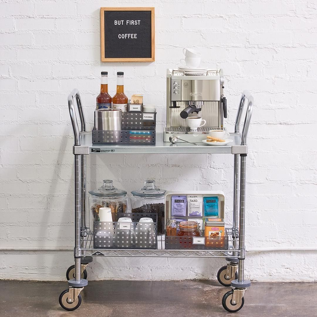 Modern Coffee Cart Station Thecontainerstore