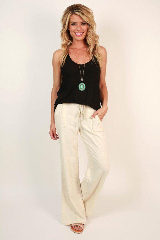 89621c62a32d Living The Dream Linen Pant | Sweet Summer Time | Linen pants outfit ...