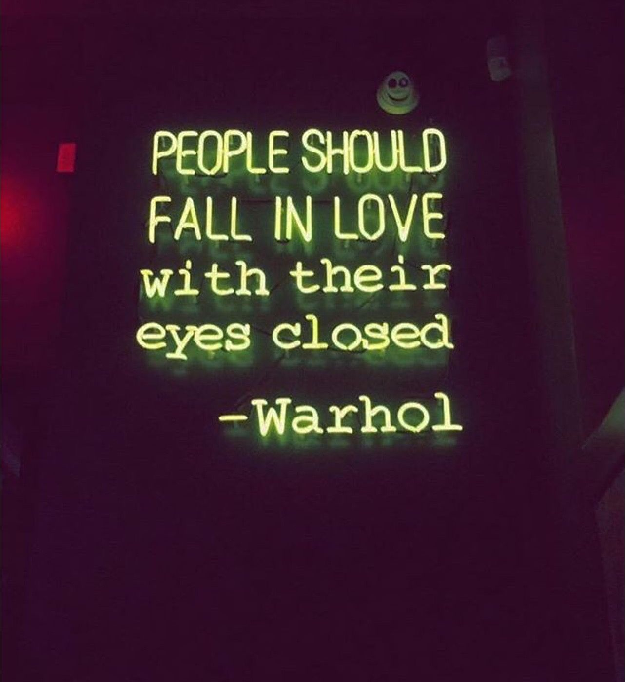 People Should Fall In Love With Their Eyes Closed Andy Warhol