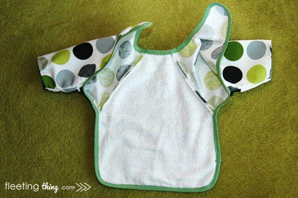 fleetingthing » Long-sleeved baby bib (pattern and tutorial ...