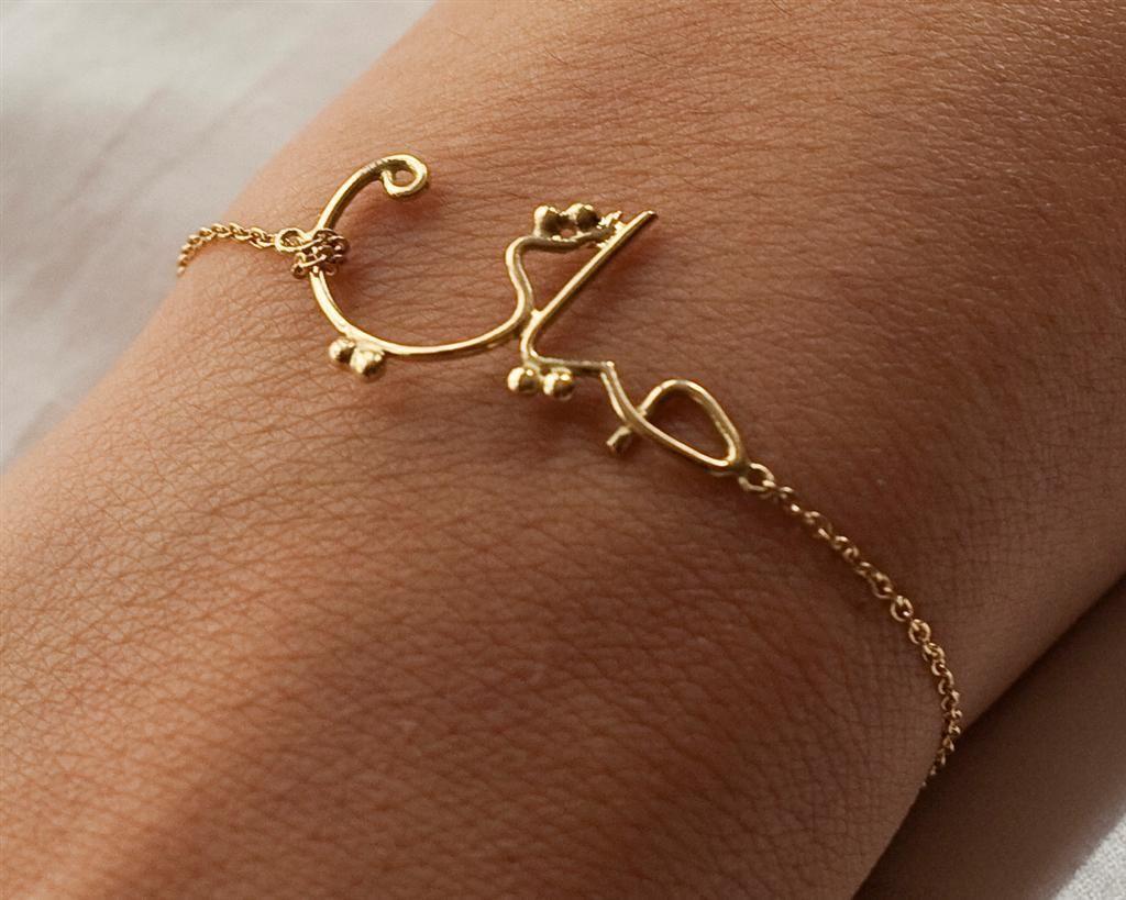 Hayati gold bracelet by nada g rabarabesque