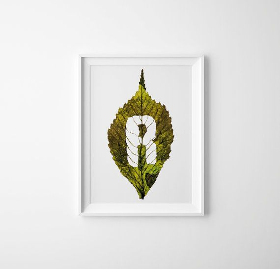 Monogram letter R \u2013 leaf photography print Pick the letter you want