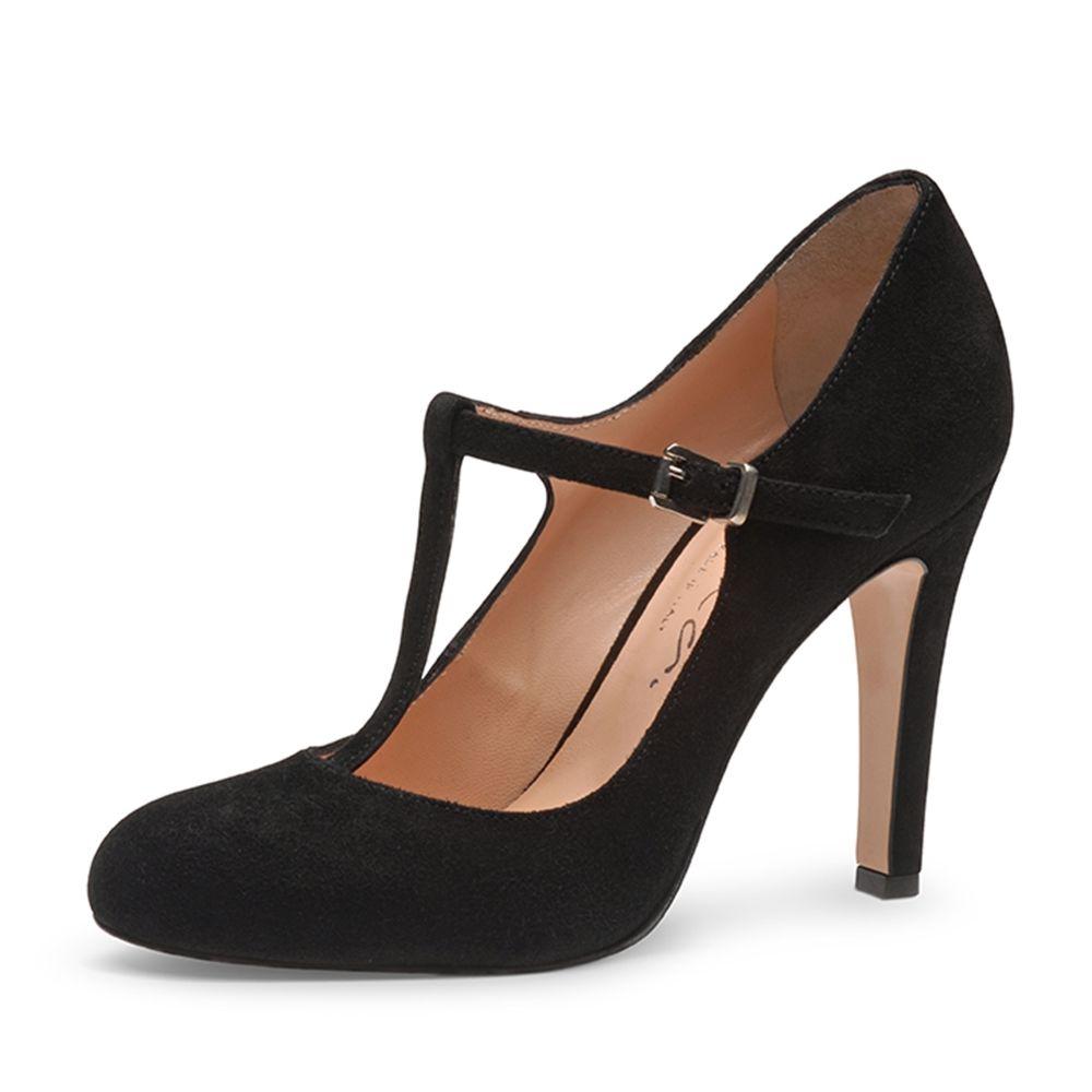 Damen Pumps Rauleder Schwarz Pumps Konfirmations Schuhe Schuhe Damen