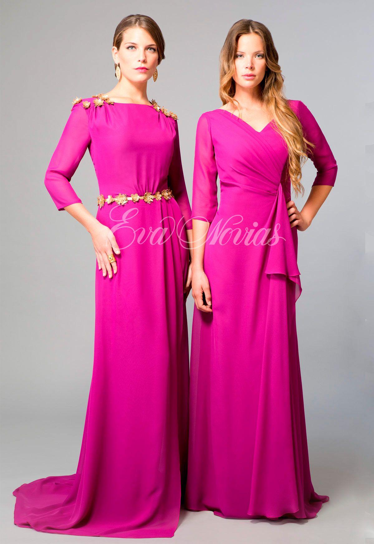 Vestido de fiesta y madrina Ana Torres colección 2017 modelo 17237A ...