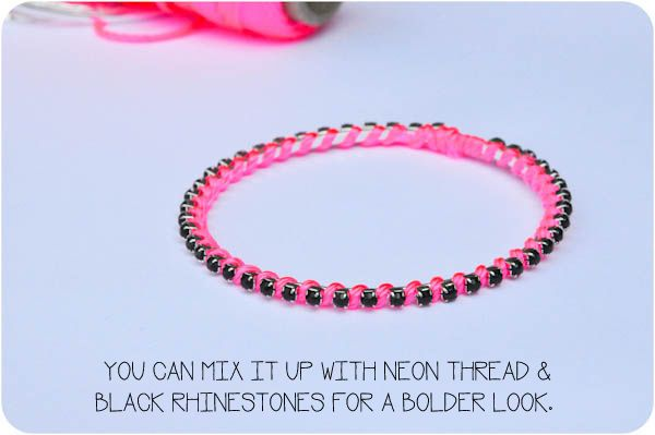 I like the black beads, but maybe with a different color of thread. Easy to make, though!