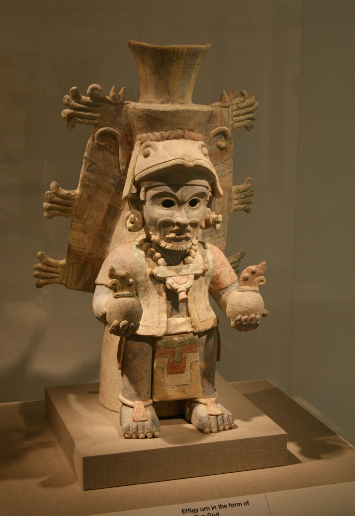 Ancient Mayan Effigy urn in the - 177.3KB